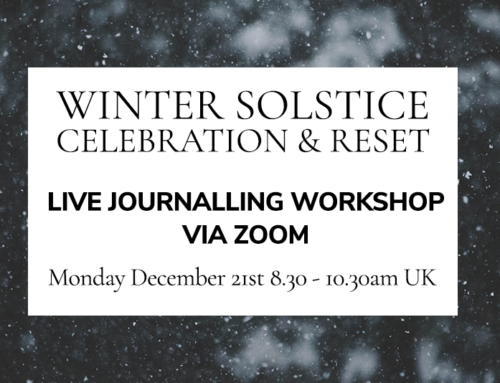 WINTER SOLSTICE JOURNALLING CELEBRATION AND RESET